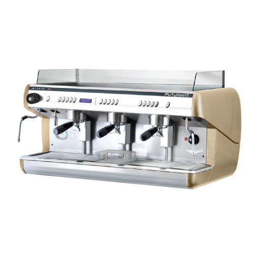 Superior Quality 3 Group Head Tall Coffee Machine with digitally controlled functions. Quarter turn steam knobs for ease of use.