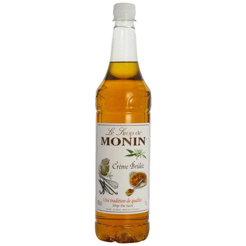 MONIN Cr̬me BrÌÈlÌ©e syrup, mixed with milk, hot or cold, reveals its smoothness, its subtle vanilla flavour and toffee touch!
