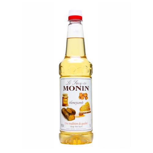 MONIN Premium Coffee Syrup Honeycomb 1 Litre - Great for Dessert Drinks and Milkshakes too!