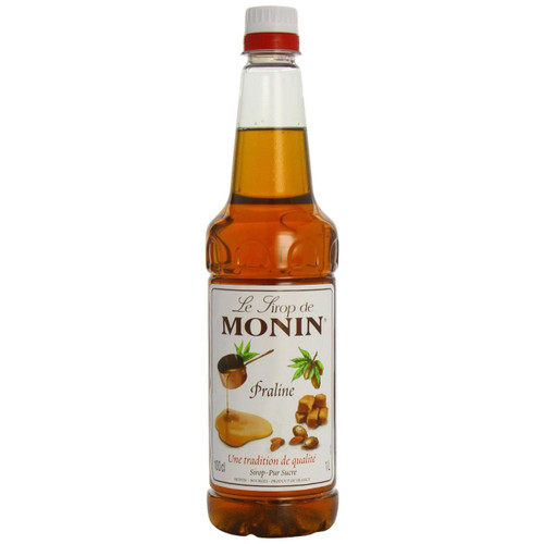 MONIN Premium Coffee Syrup Praline 1 Litre - A nutty flavour to add to your favourite drink!