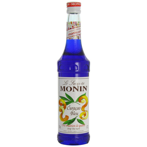The amazing deep blue of MONIN Blue Cura̤ao syrup evokes the sea lapping the beautiful Curacao beaches and adds an exotic touch to cocktails and soda.