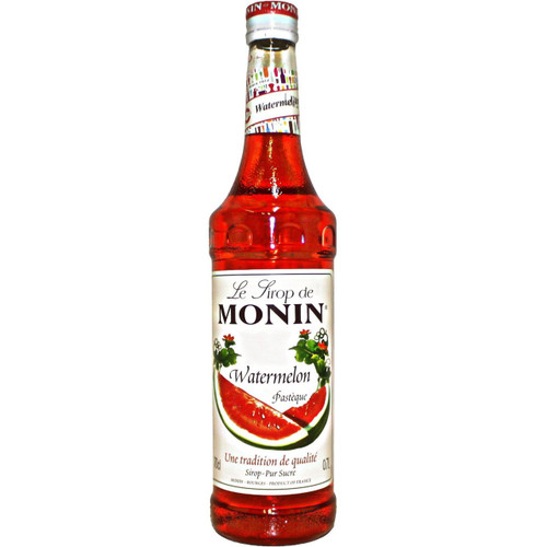 The delicate, thirst-quenching taste of MONIN Watermelon syrup is perfect for Summer drinks and will create revitalising cocktails, fruit punches, lemonades and smoothies.