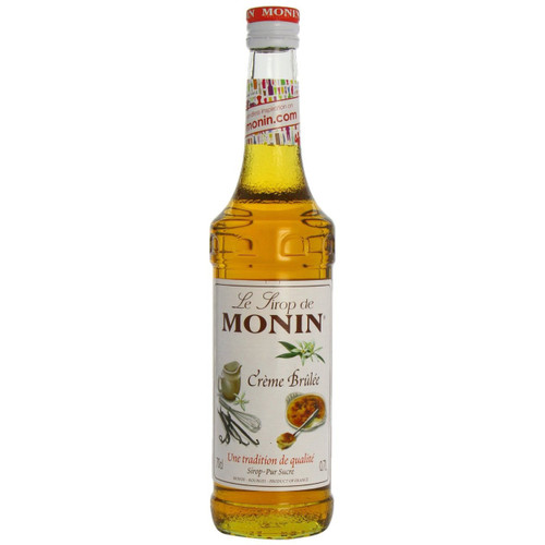 MONIN Creme Brulee syrup, mixed with milk, hot or cold, reveals it's smoothness, it's subtle vanilla flavour and toffee touch!