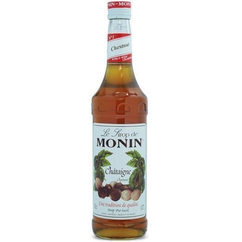 MONIN Premium Syrup Chestnut 70cl - Great for Cocktails and Milkshakes too!