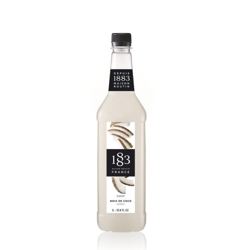 With the delicious sweetness of coconut, 1883 Maison Routin COCONUT Syrup can be used in various alcoholic and non-alcoholic drinks.