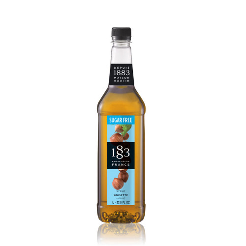 A versatile syrup, 1883 Maison Routin HAZELNUT Sugar Free can be used in various alcoholic and non-alcoholic drinks.