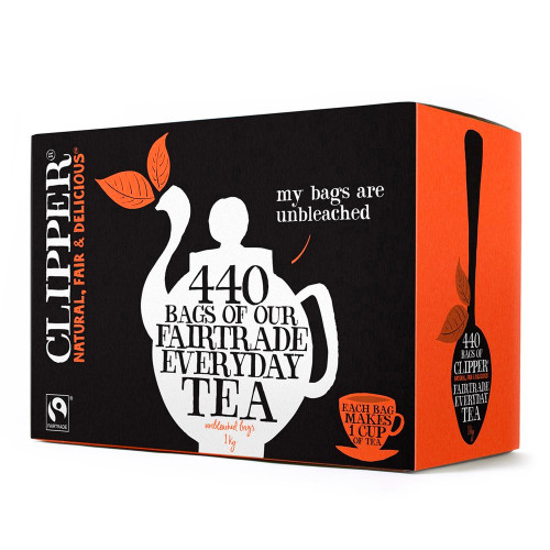 440 Everyday One Cup Tea Bags. Ideal for catering and office use. A full-bodied, rich and refreshing blend of teas from the finest Fairtrade estates in India, Africa and Sri Lanka.