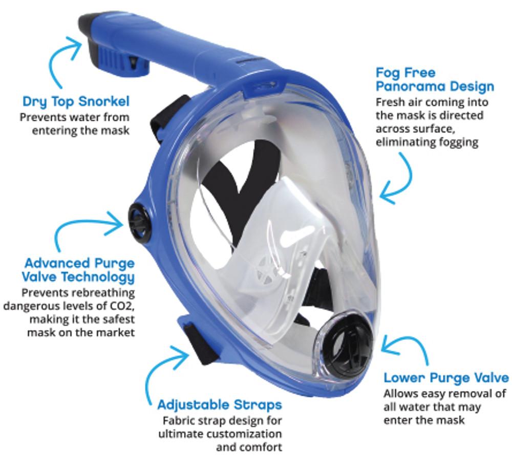 Vista Vue Junior - Kids Full Face Snorkeling Mask