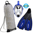 Full Face Mask - Adult Snorkeling Set by Deep Blue Gear