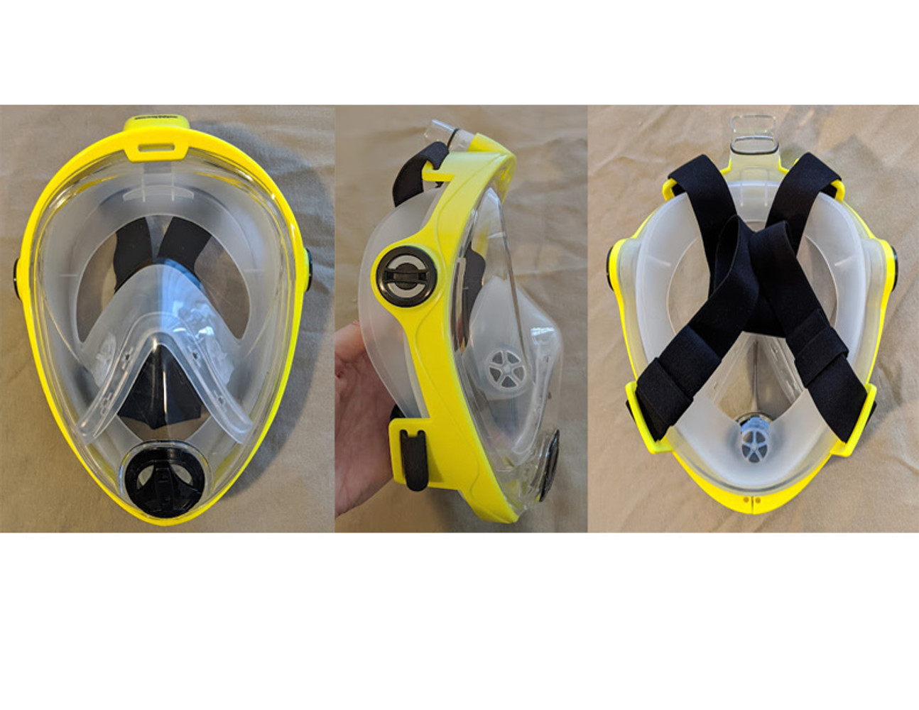 How to convert your Full Face Snorkeling mask into a safety mask.