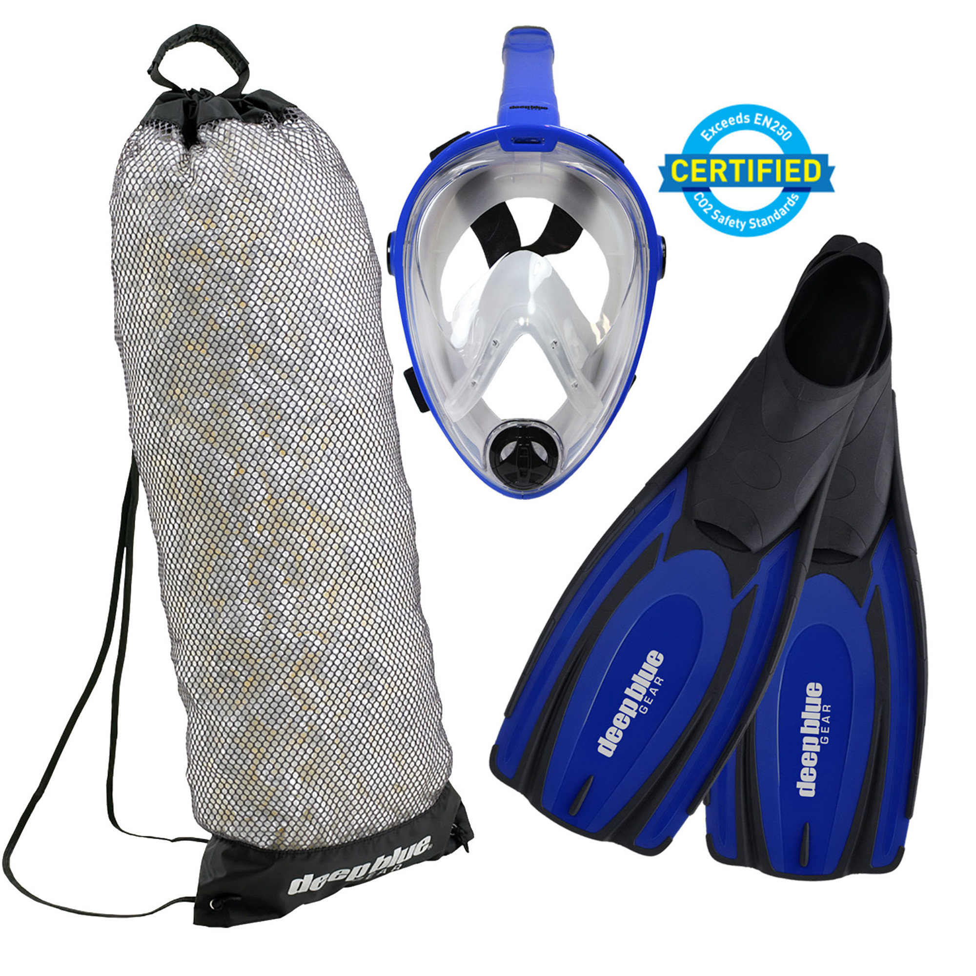 Full Face Mask - Adult Snorkeling Set