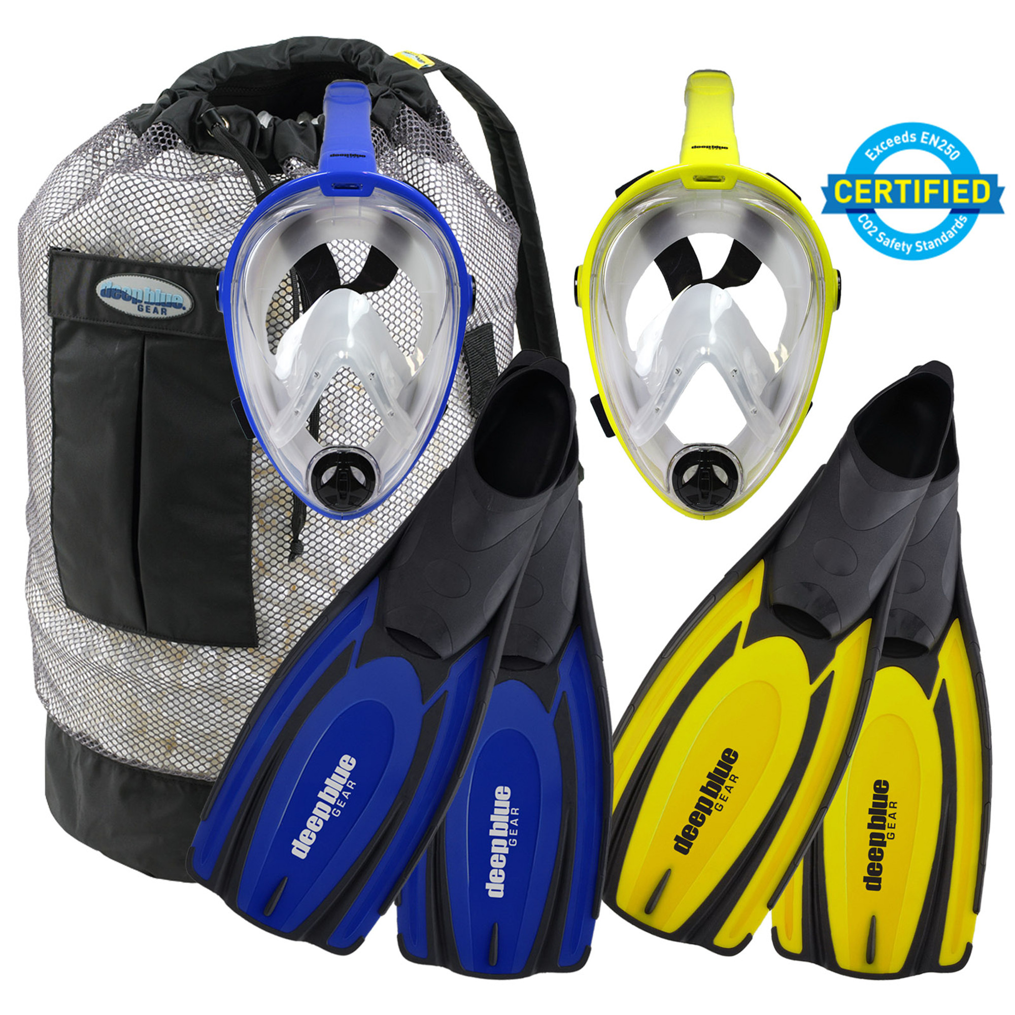and Swim Snorkeling Deep Blue Gear Latitude 2 Fins for Diving