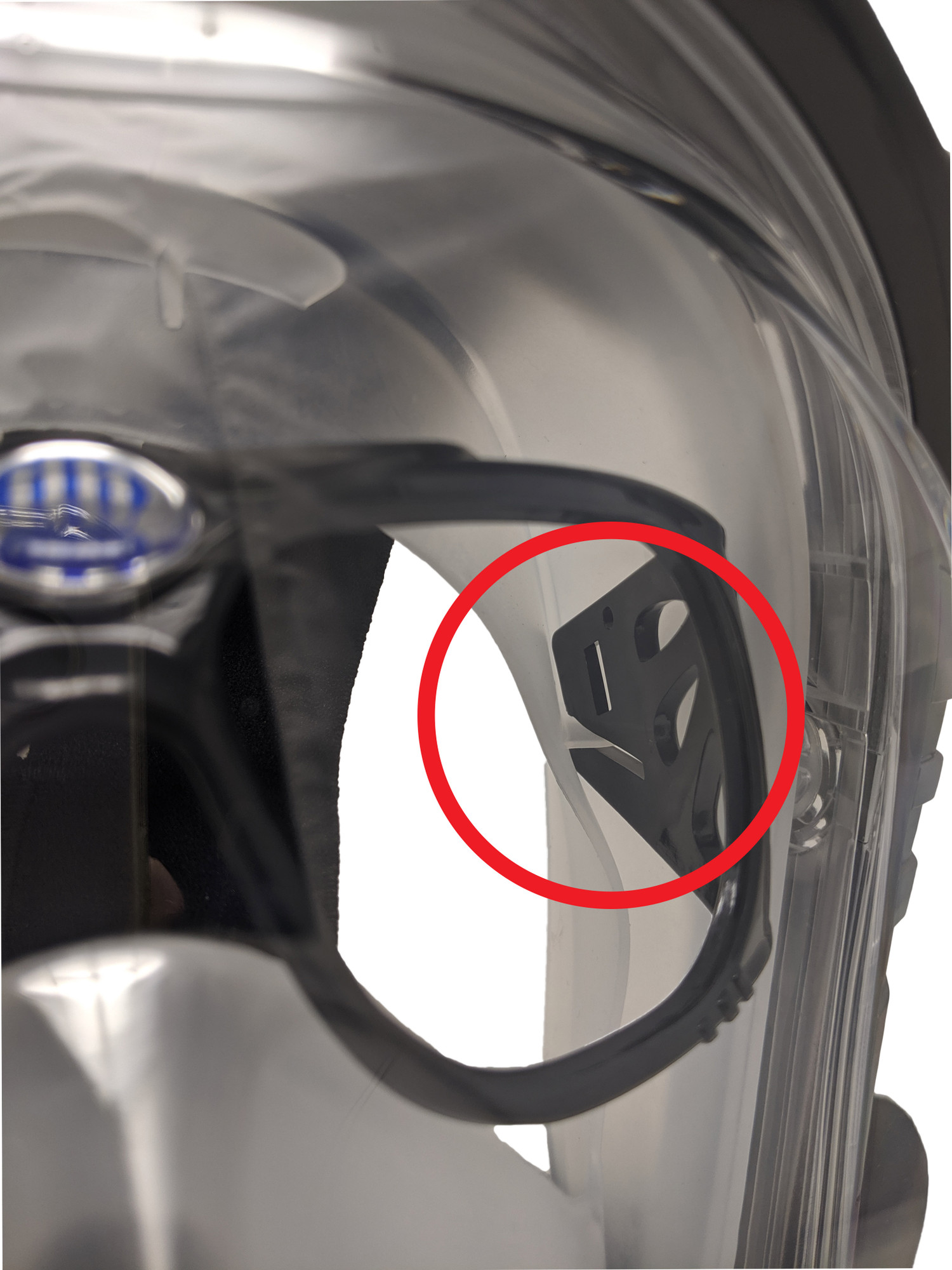 If your full face mask has these tabs on the inside of the skirt, this Frame should work well with your mask!