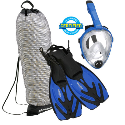 Kid's Full Face Mask - Snorkeling Set