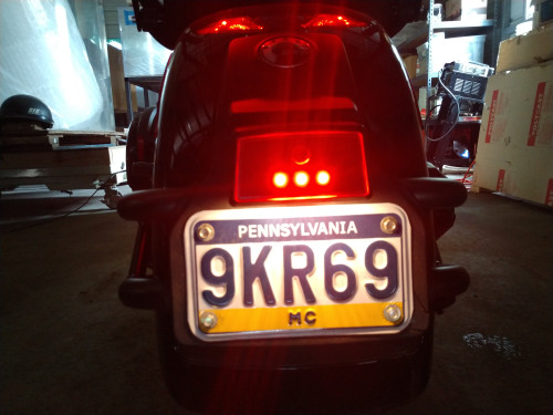 LED License Plate Reflector for Can-Am SPYDER