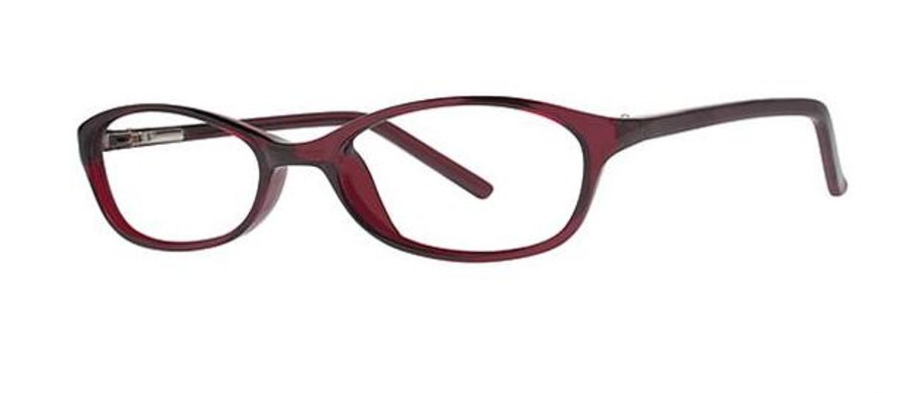 Narrow lens sturdy frames basic women's glasses burgundy red color