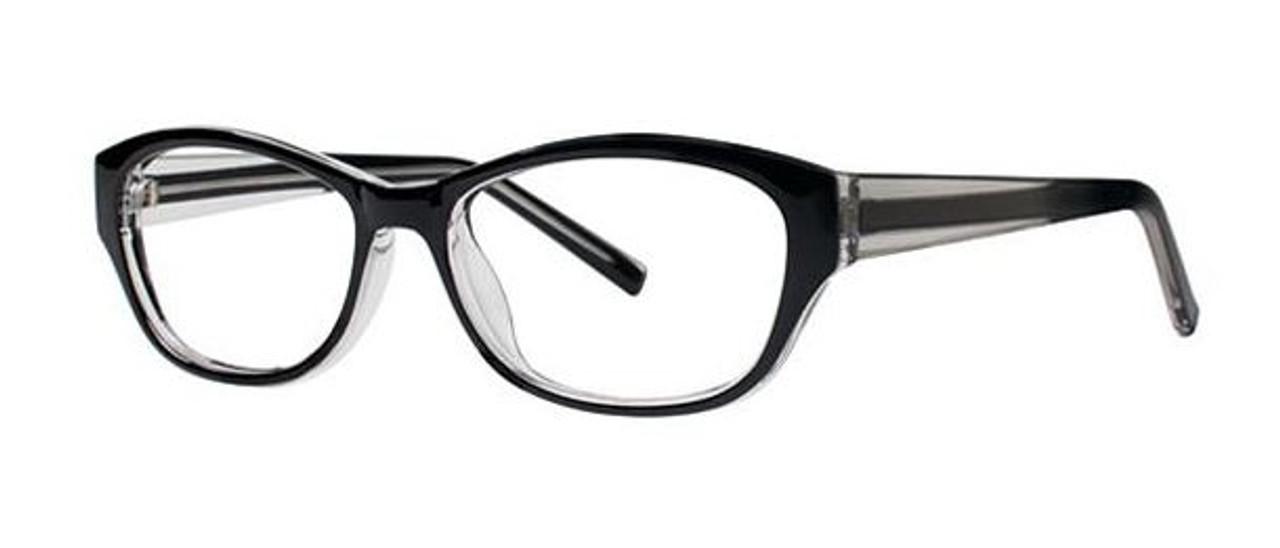 Basic black women's glasses frames oval style lenses