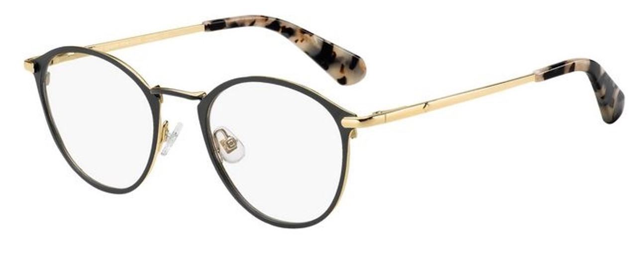 Thin frame oval frame glasses in gold tones with brown tortoise earpieces women's eyeglasses frames