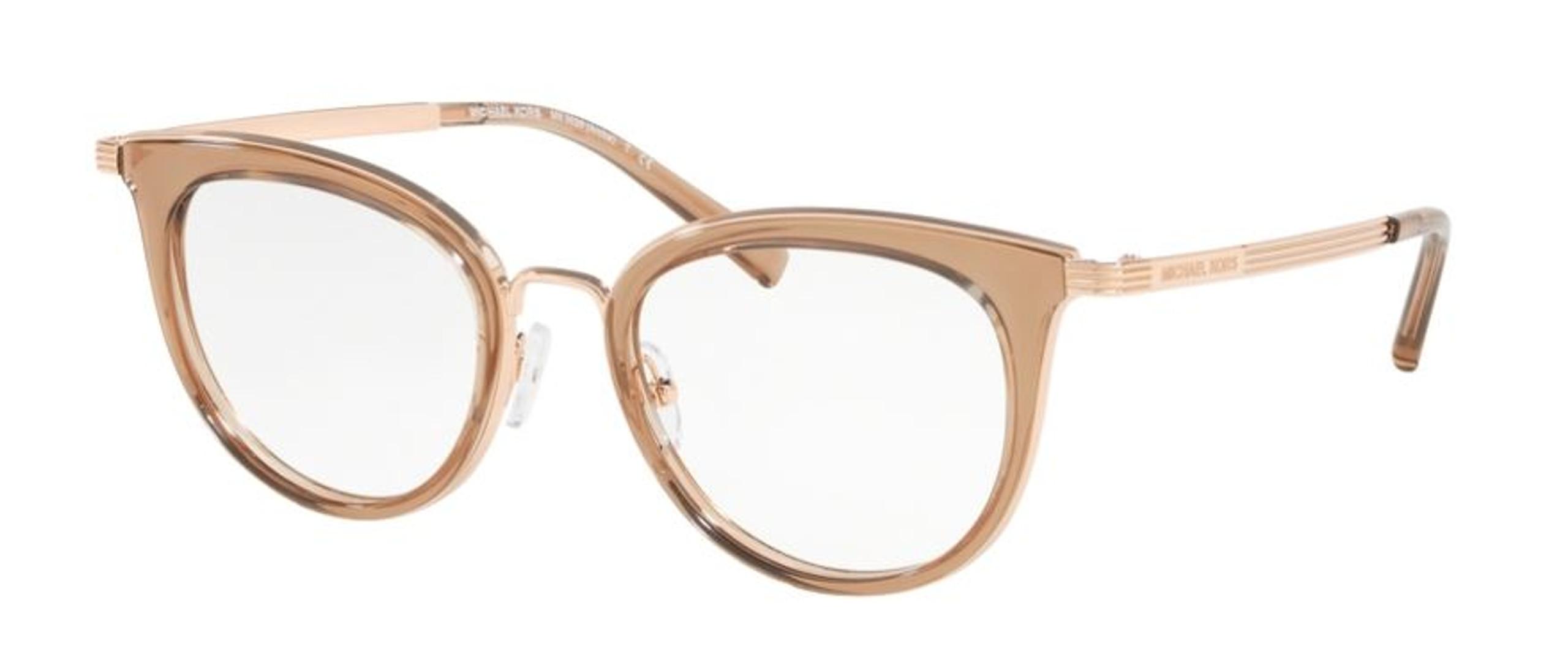 Cat's eyes women's glasses frames gold tones Michael Kors brand