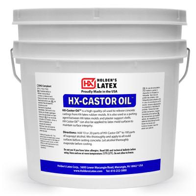 A gallon of castor oil liquid latex release agent for concrete.