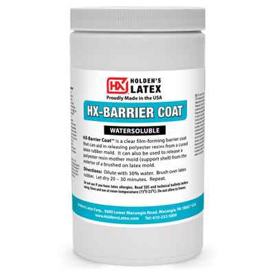A quart of  natural latex release agent for latex and fiberglass mother mold.