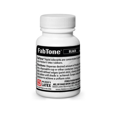 2 ounce bottle of Fabtone Latex Color