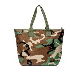 Tote Bag - Woodland Camo - Front