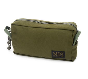 Slim Mesh Toiletry Bag - Olive Drab - Front