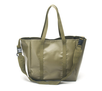 All Weather 2 Way Tote Bag - Olive Drab - Front with Strap