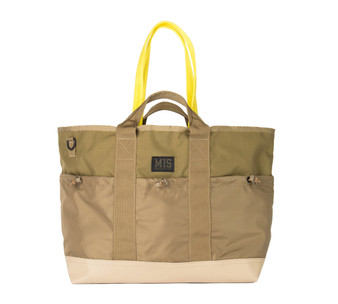 Multi Pocket Tote Bag - Coyote Tan - Front