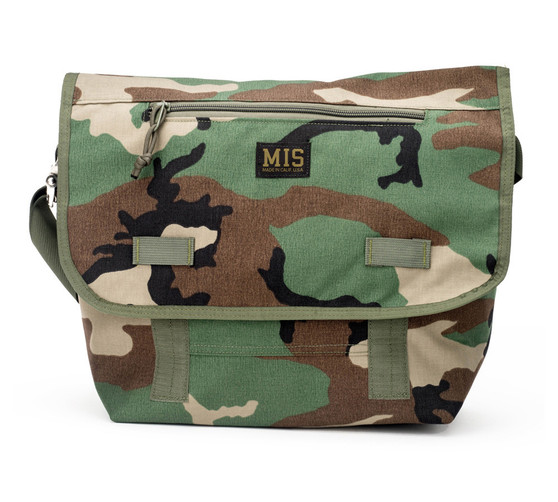 Messenger Bag - Woodland Camo - Front