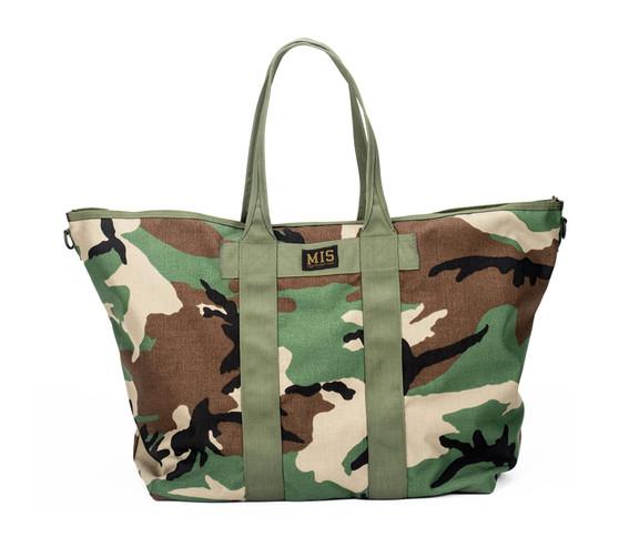 Super Tote Bag - Woodland Camo - Front