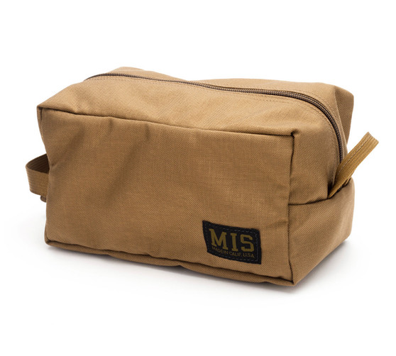 Mesh Toiletry Bag - Coyote Brown - Front