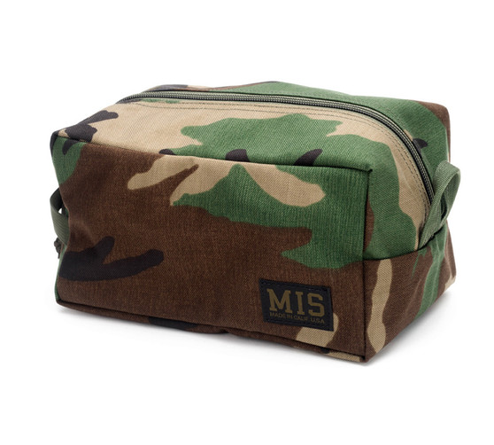 Mesh Toiletry Bag - Woodland Camo - Front