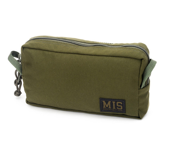 Slim Mesh Toiletry Bag - Olive Drab - Front
