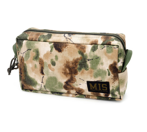 Slim Mesh Toiletry Bag - Covert Woodland - Front