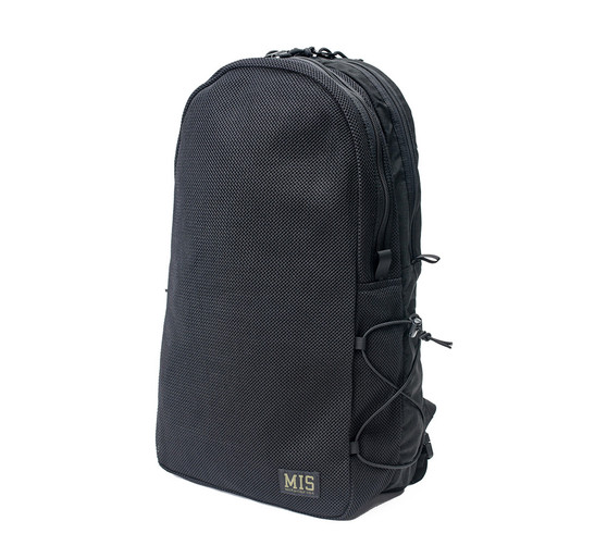 Mesh Backpack - Black - Front