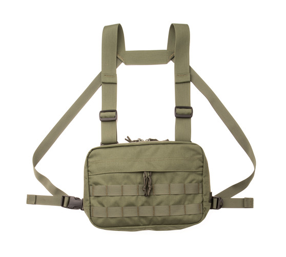 Chest Rig - Camo Green - Front 1