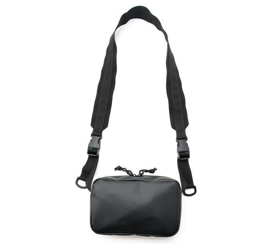 All Weather Shoulder Bag - Black - Front with Strap