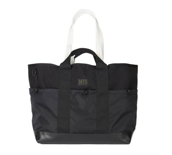 Multi Pocket Tote Bag - Black - Front