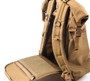 Roll Up Backpack - Coyote Brown - Back Opening