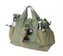 Multi Pocket Tote Bag - Olive Drab - Front 3