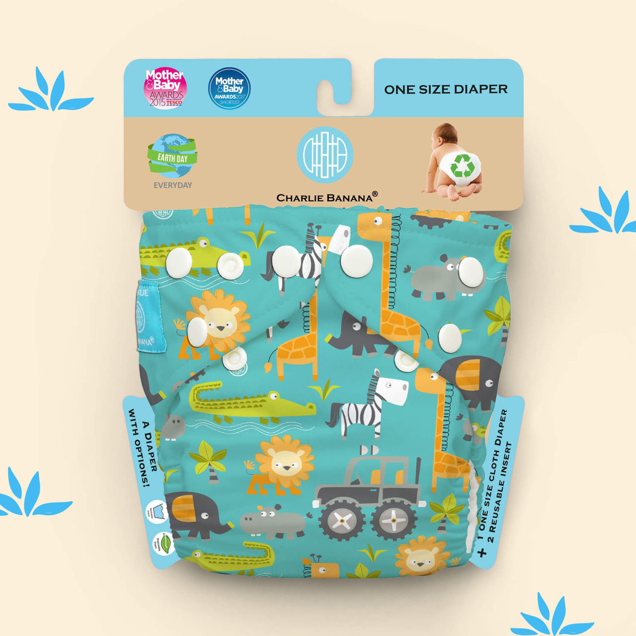 Free Size Cloth Diaper - Gone Safari