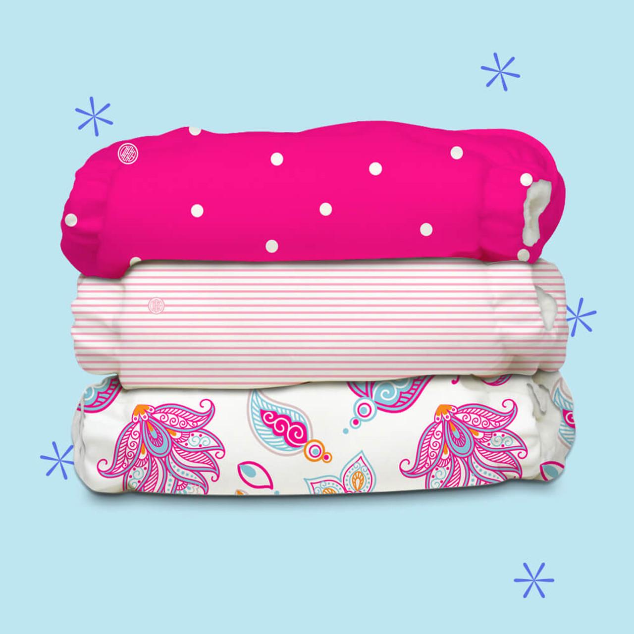 Free Size Cloth Diaper - Super Saver Pack of 3 - Gratitude