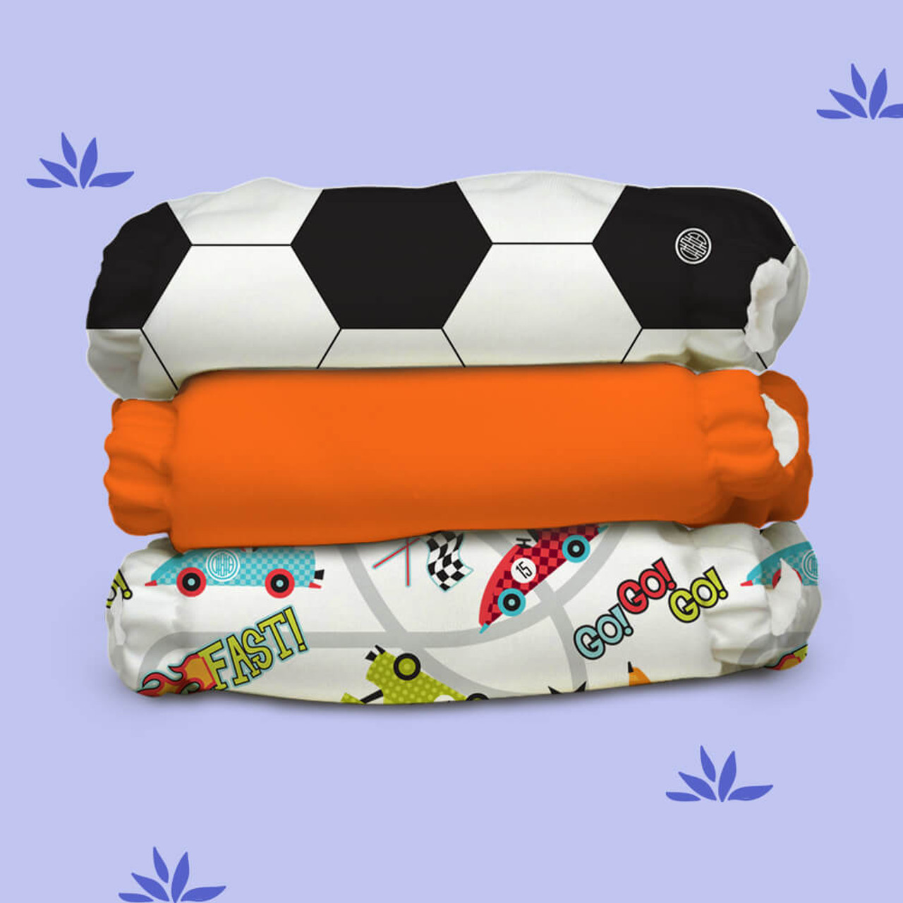 Free Size Cloth Diaper - Super Saver Pack of 3 - Sporty Pants