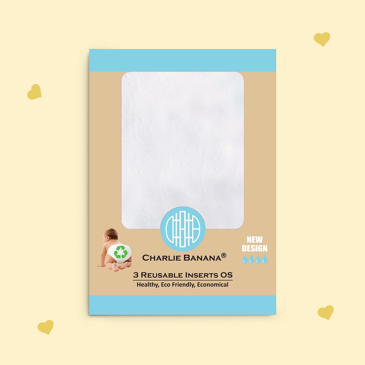 Reusable Cloth Diaper Inserts - Medium/Large