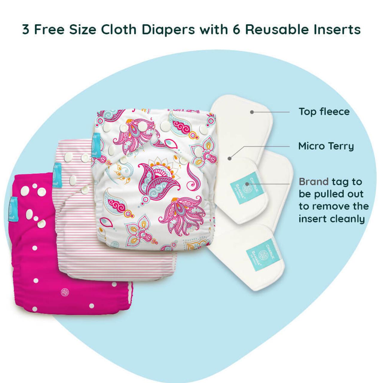 Free Size Cloth Diaper - Super Saver Pack of 3   Gratitude