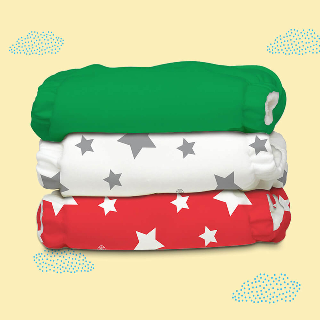 Free Size Cloth Diaper - Super Saver Pack of 3   Tuscany