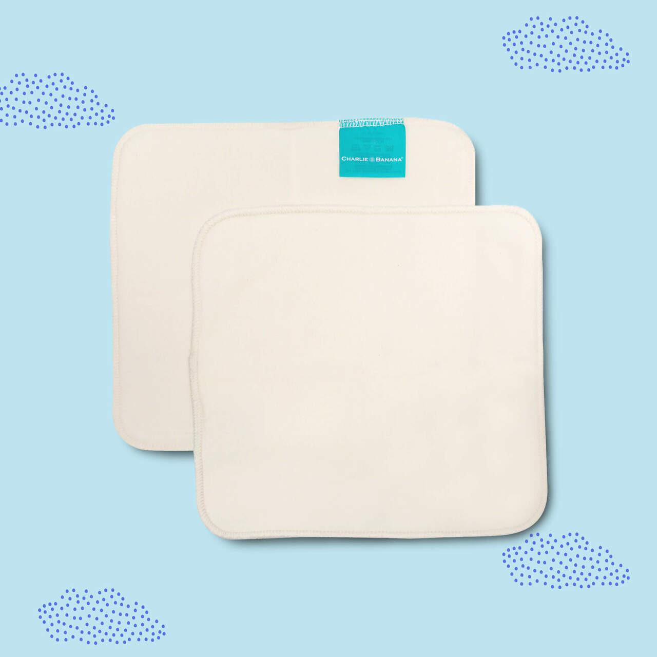 Reusable Organic Cotton Wipes.