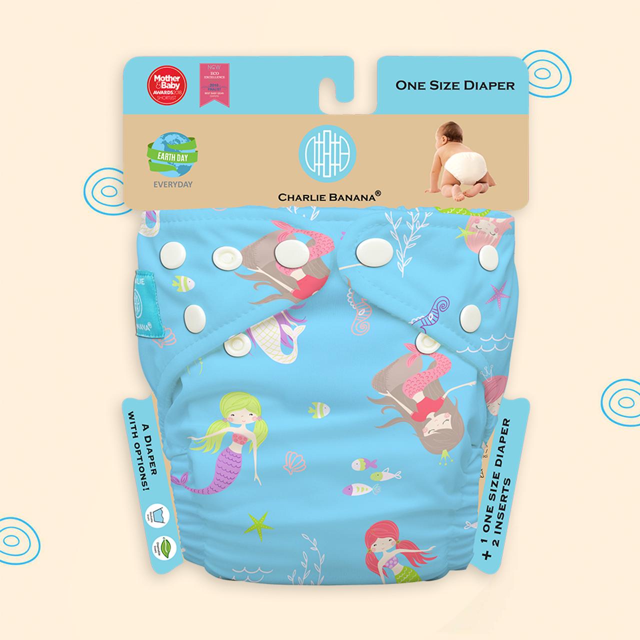 Free Size Cloth Diaper   Mermaid Tiffany